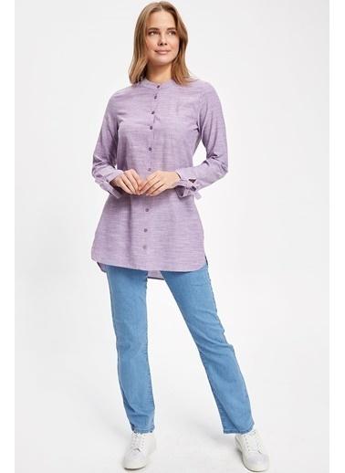 DeFacto Uzun Gömlek Pembe